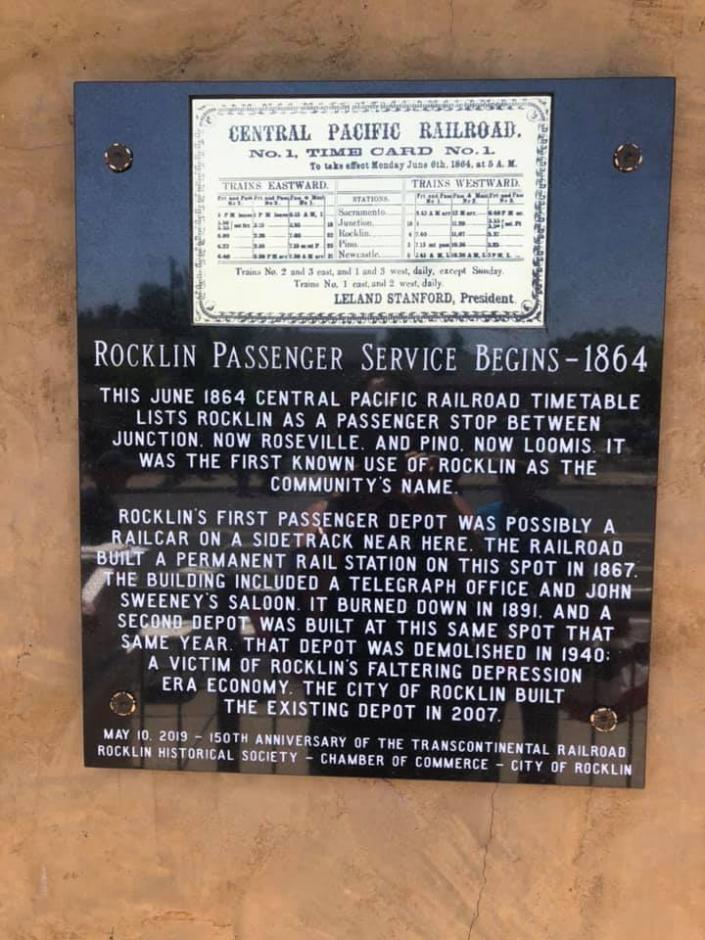 Plaque with 1864 Timetable