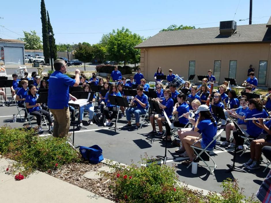 Rocklin High School Band at Plaque Dedication