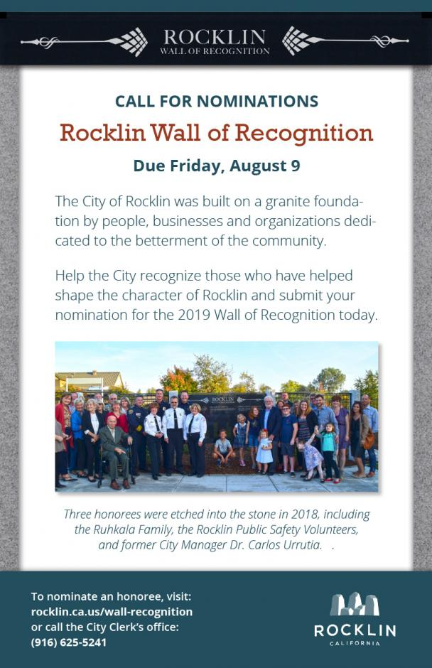 Wall of Recognition Flyer Image