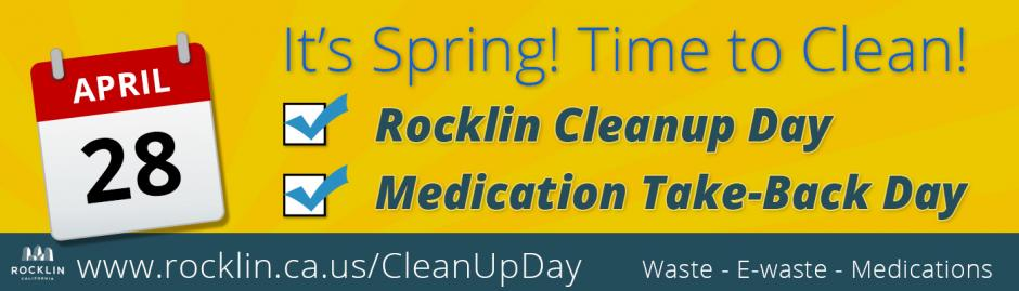 Rocklin Cleanup Day and Medication Take-Back Day