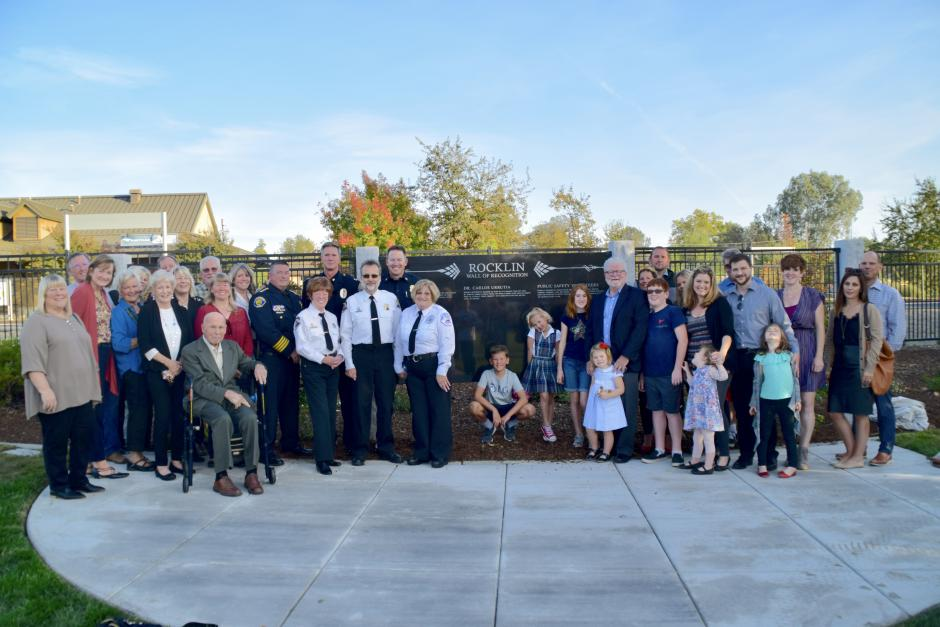 Dedication of the Rocklin Wall of Recognition, Nov. 1, 2018