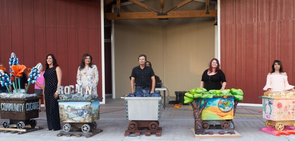 "Rocklin ""Off the Rails"" contest winning artists"