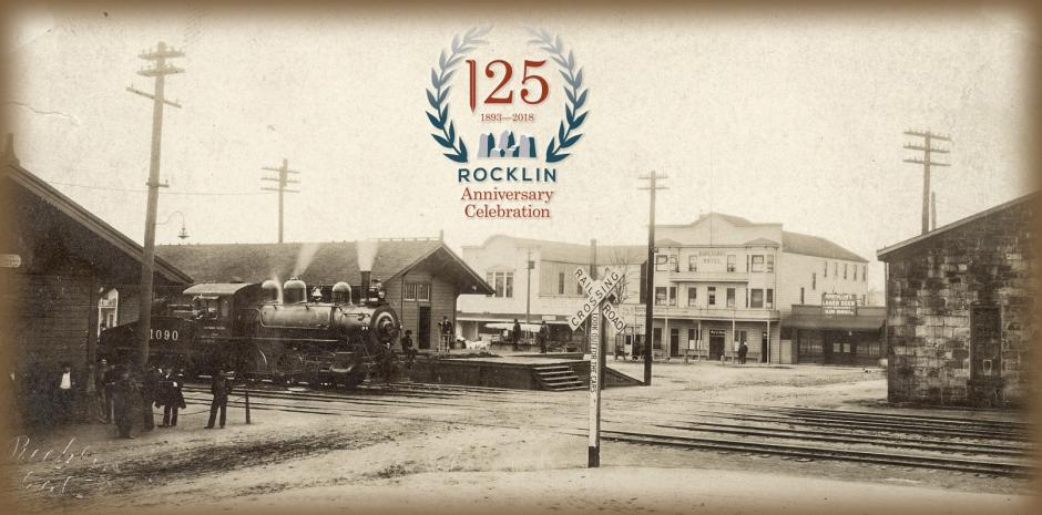 Early View of Rocklin's Train Depot at Rocklin Road